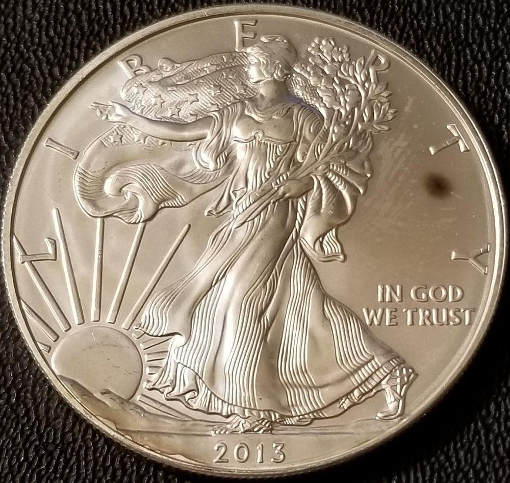2013 Silver American Eagle 1oz Coin 999 Fine Silver Bullion Toned Silver Bullion American Silver Eagle Bullion