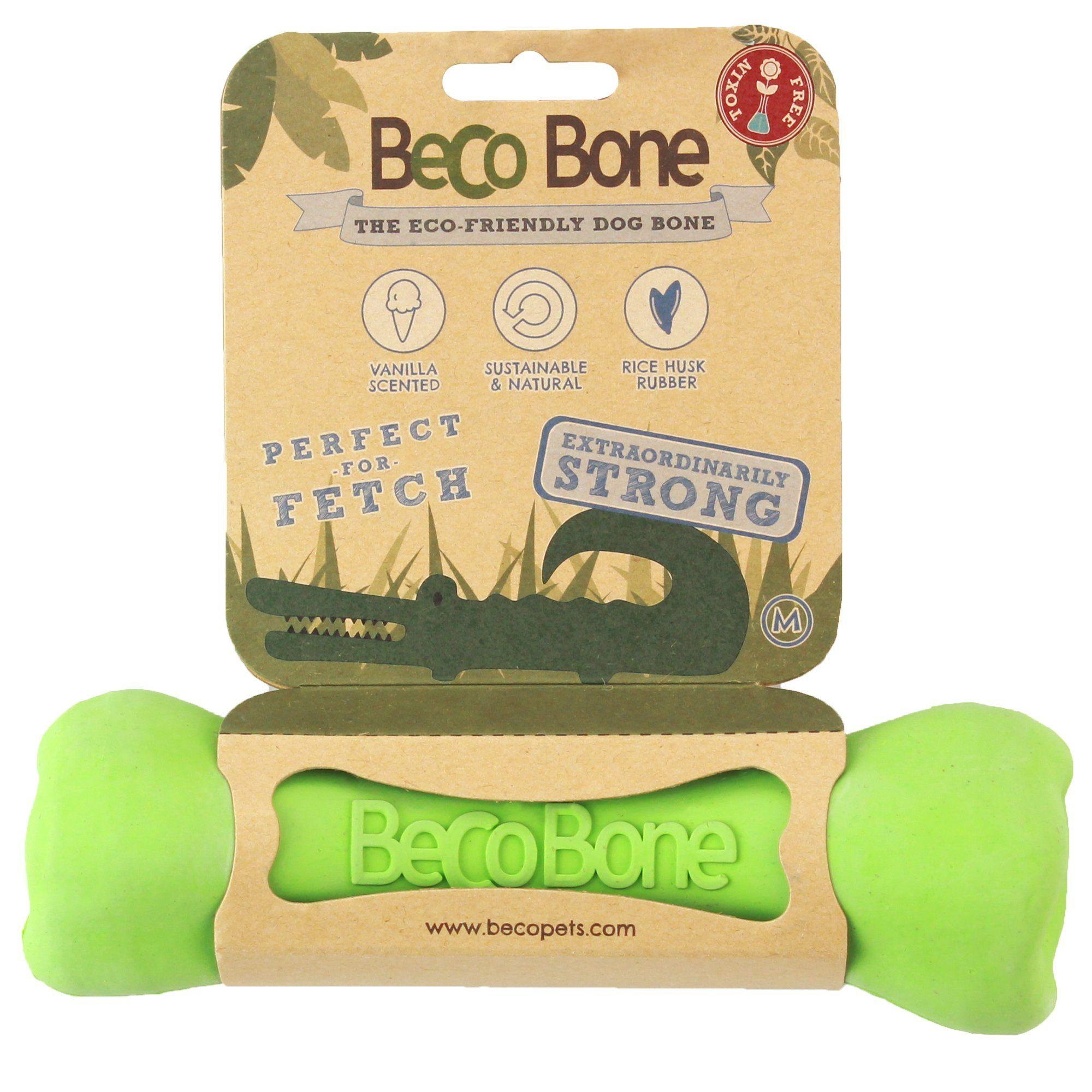 Beco Pet Bone Green Dog Toy Medium Dog Toys Dogs Cockapoo Dog