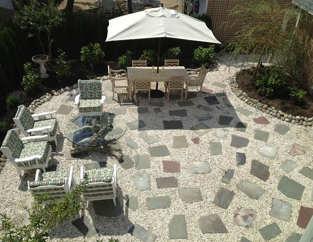 Amazing Gravel Patio With Pavers. This Is A Very Inspiring Backyard Layout. Adding  Gravel And Pavers Make This Backyard Almost Maintenance Free!