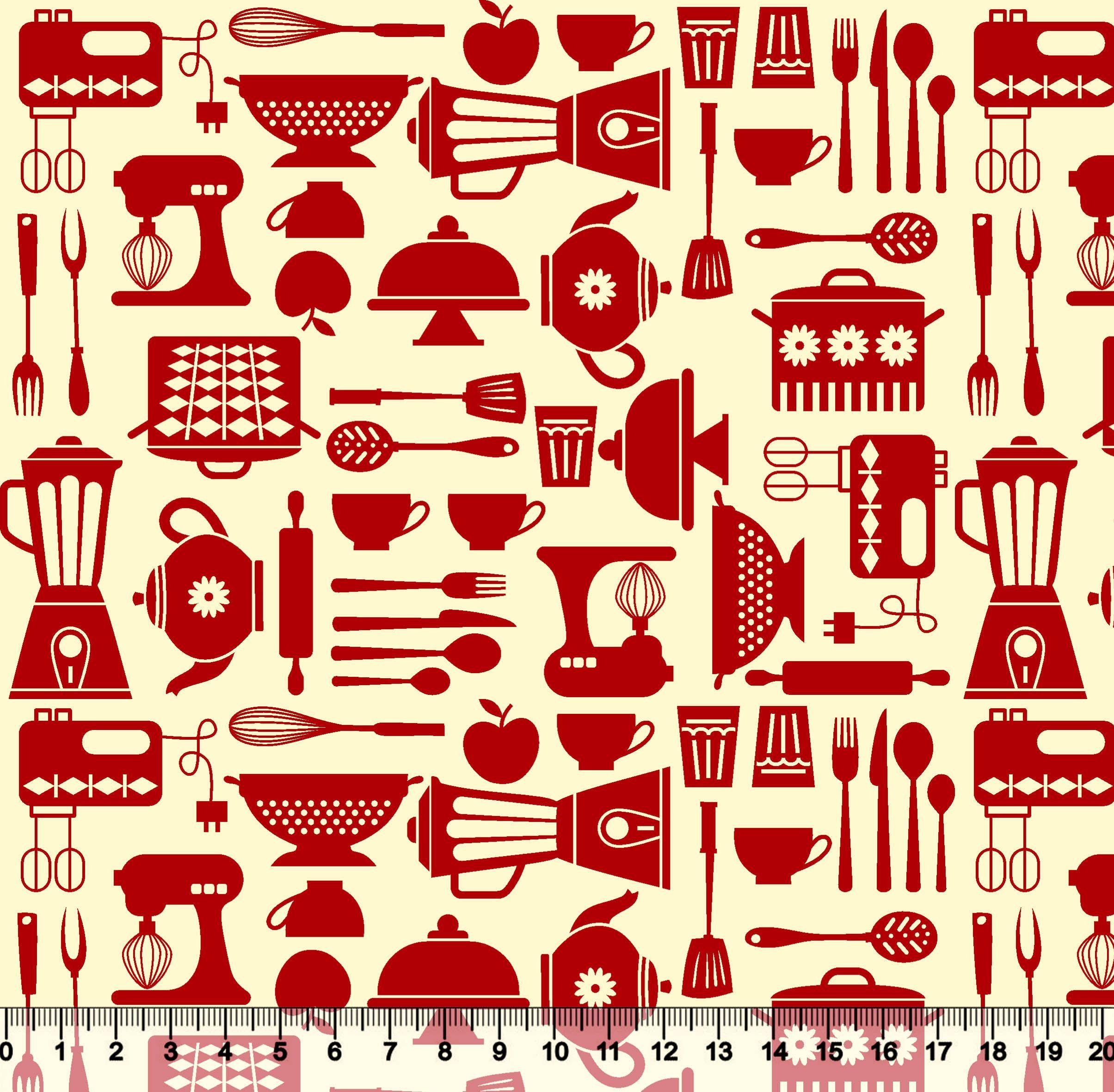 Estampa Cozinha Desenho 5222 Variante 02 Cole O Redeex  ~ Desenho Utensílios De Cozinha