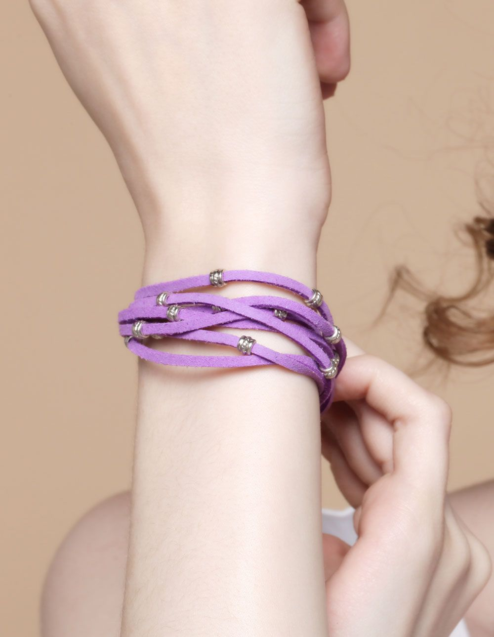 PandaHall Jewelry—Fashion Suede Cord Bracelets with Alloy Findings and Brass Findings
