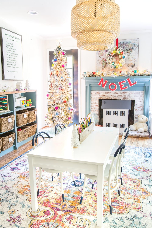 Colorful Christmas Playroom Cute Diy Room Decor Christmas Room