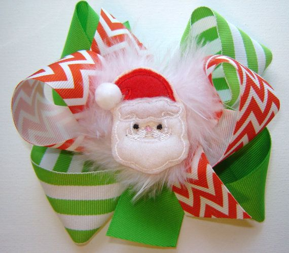 Girl's Toddlers Holiday Large Triple Loop Boutique Bow by bowtowne