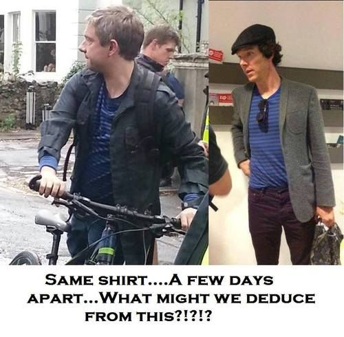 That they have developed similar taste in clothes... <----- THIS PERSON IS MY HERO.  (*hahahaha!  kmh*)