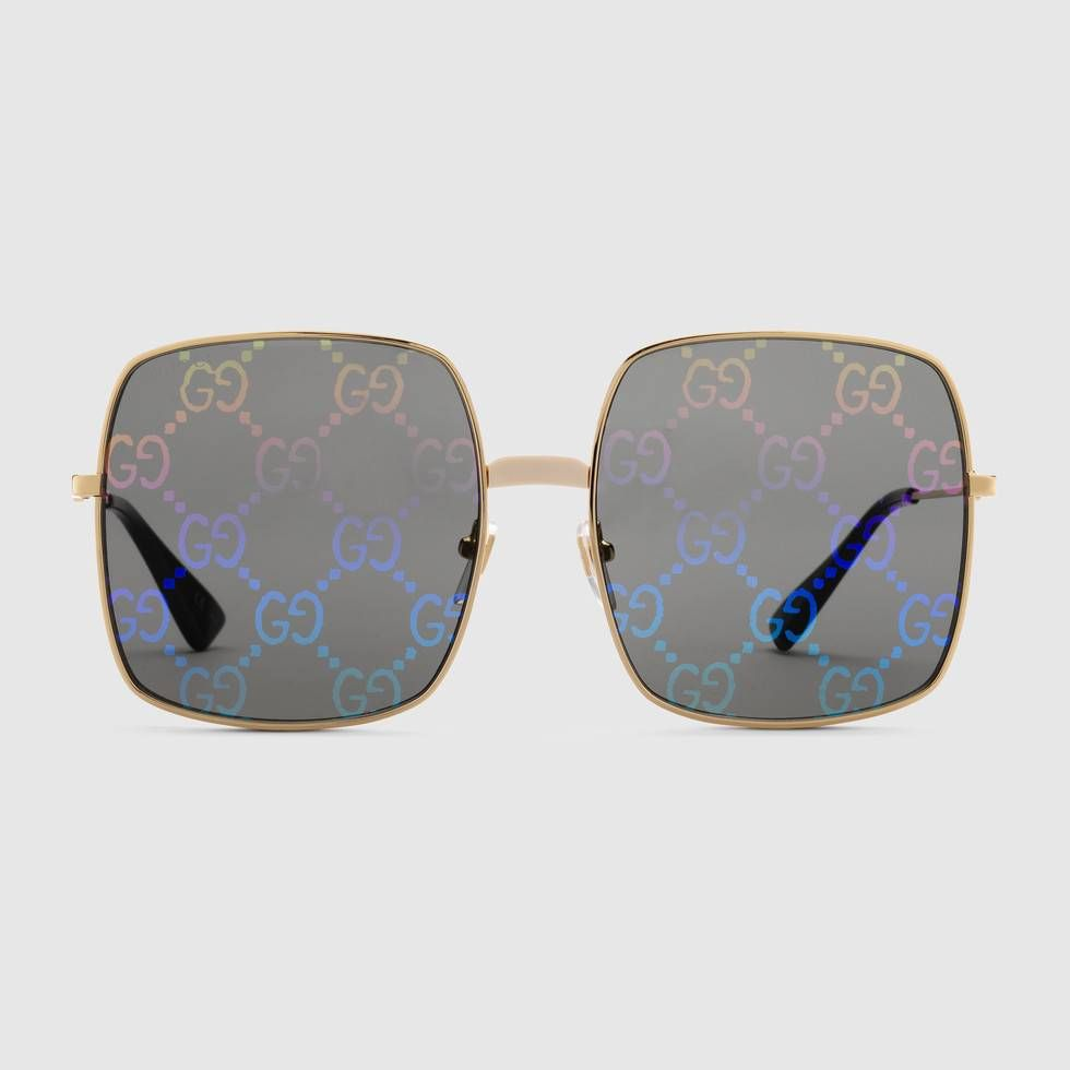 f532b44d1fd Gucci Rectangular-frame metal sunglasses ในปี 2019