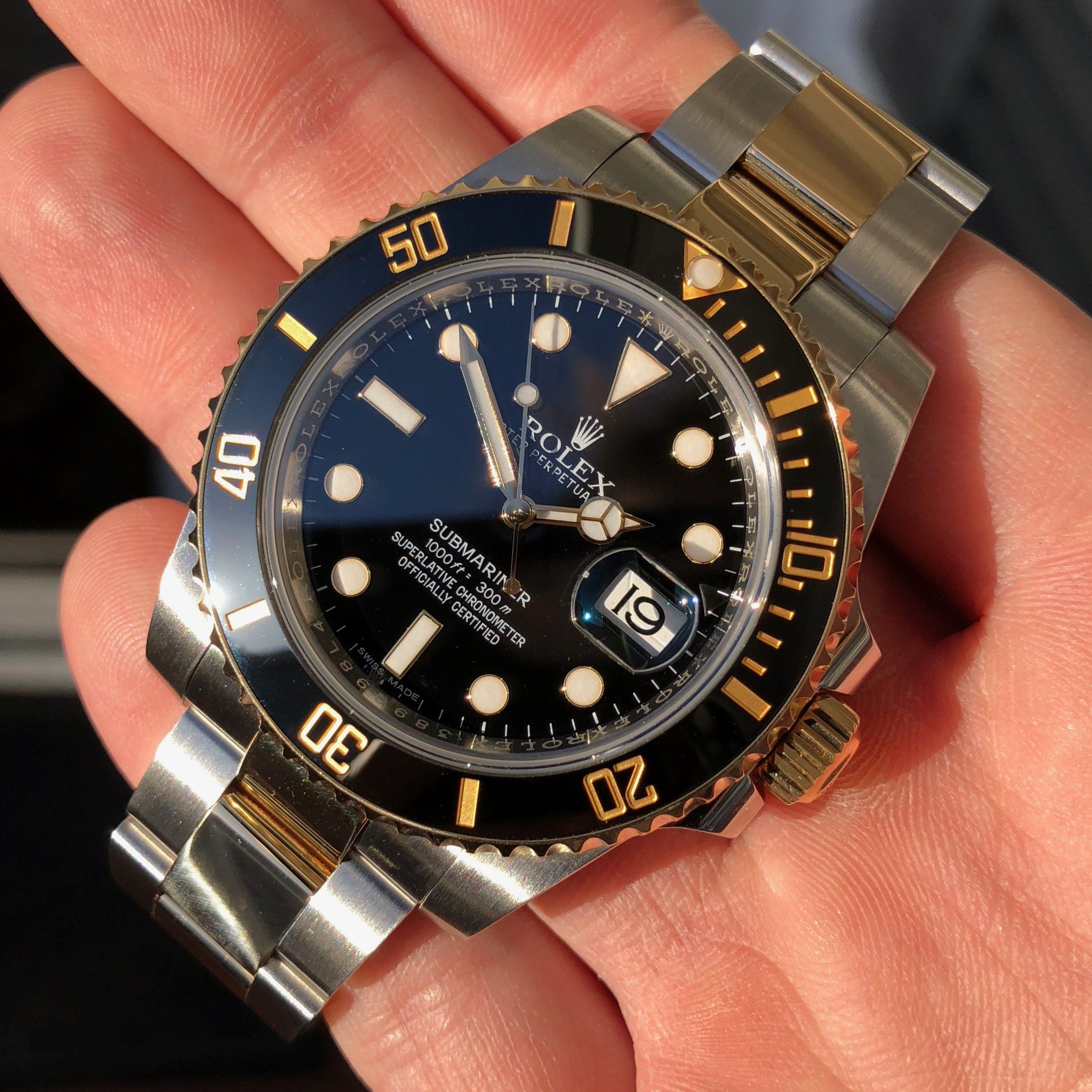 116613ln Rolex Submariner Black Dial With Black Ceramic Bezel Mens Automatic Watch Rolex Watches For Men Rolex Submariner Automatic Watches For Men