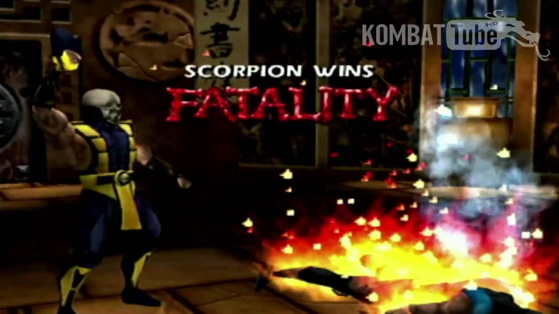 Mk4 Gold Scorpion Toasty Fatality Mortal Kombat Games Mortal
