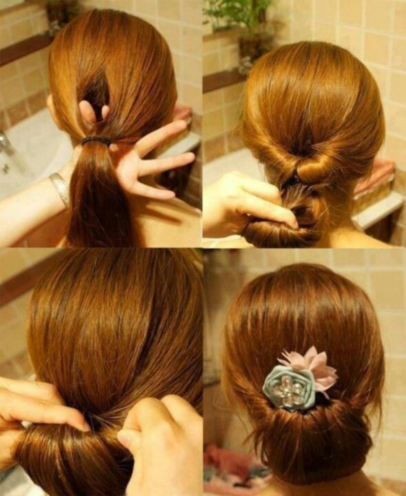 quick and simple hairstyle for straight hair волосы pinterest