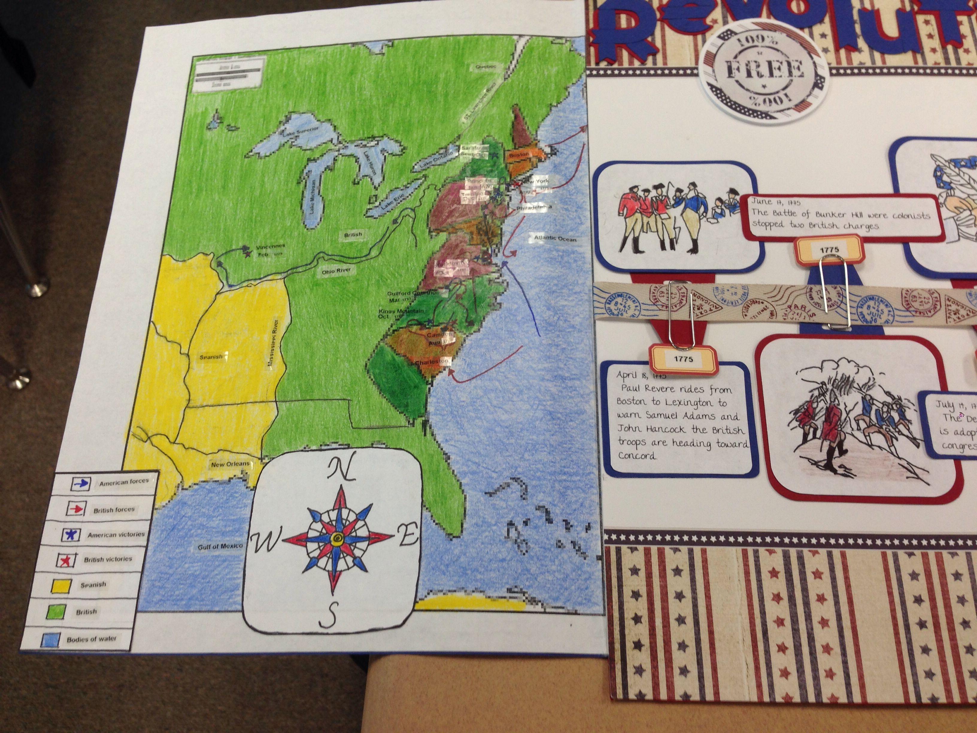 Revolutionary War Timeline Map