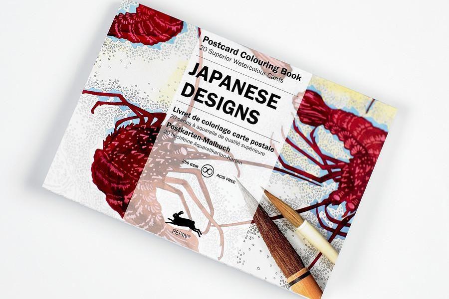Pepin Postcard Coloring Books Coloring Books Japanese Design Postcard Book