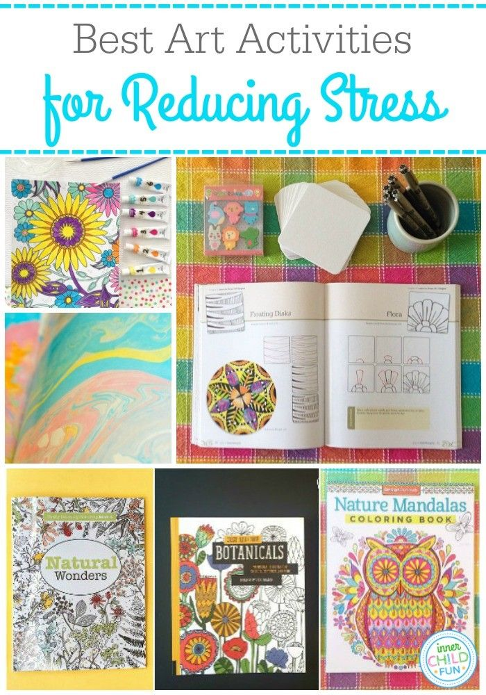 Relax with these calming art activities that are easy for aspiring artists. Here is a list with photo examples of the best art activities to reduce stress.