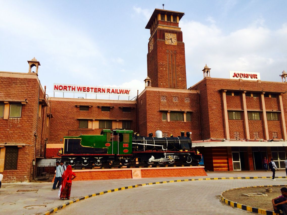 Jodhpur Railway Station Red Fortress In Blue City