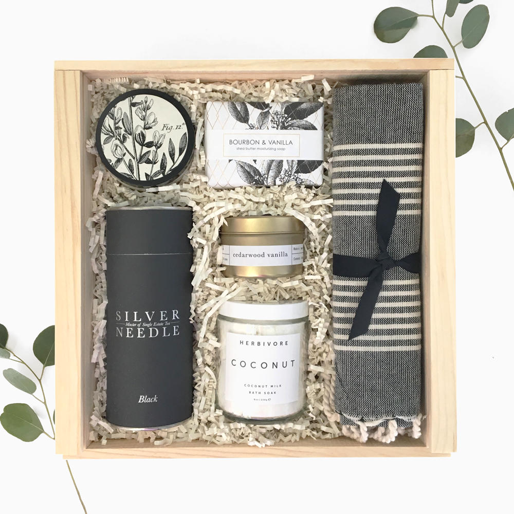Unwind spa box from Loved and Found Corporate gifts, Spa