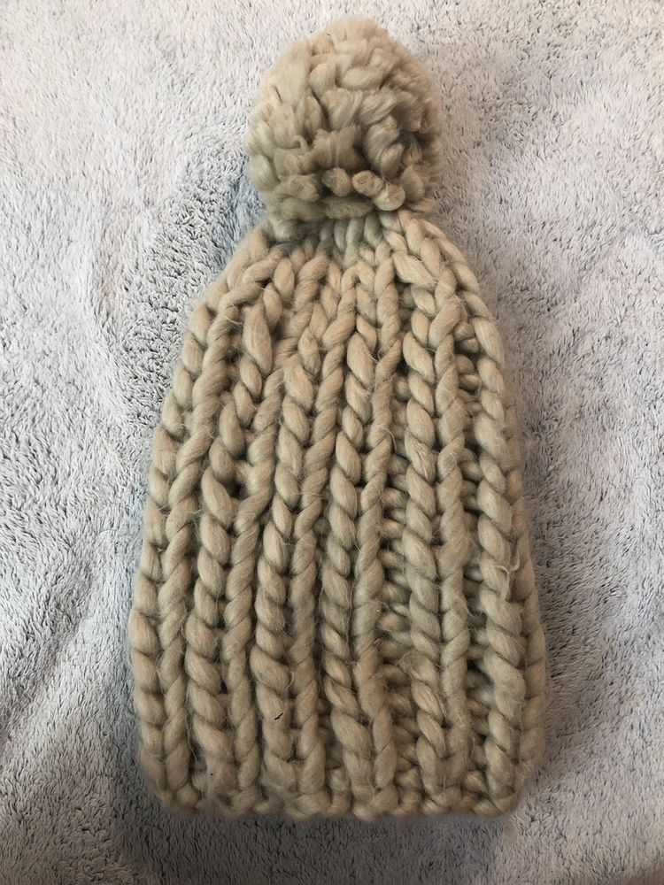 ff7e49cff65 Winter Beanie Hat Pom Urban Outfitters Tan Neutral Large Knit Good  Condition  fashion  clothing  shoes  accessories  womensaccessories  hats  (ebay link)
