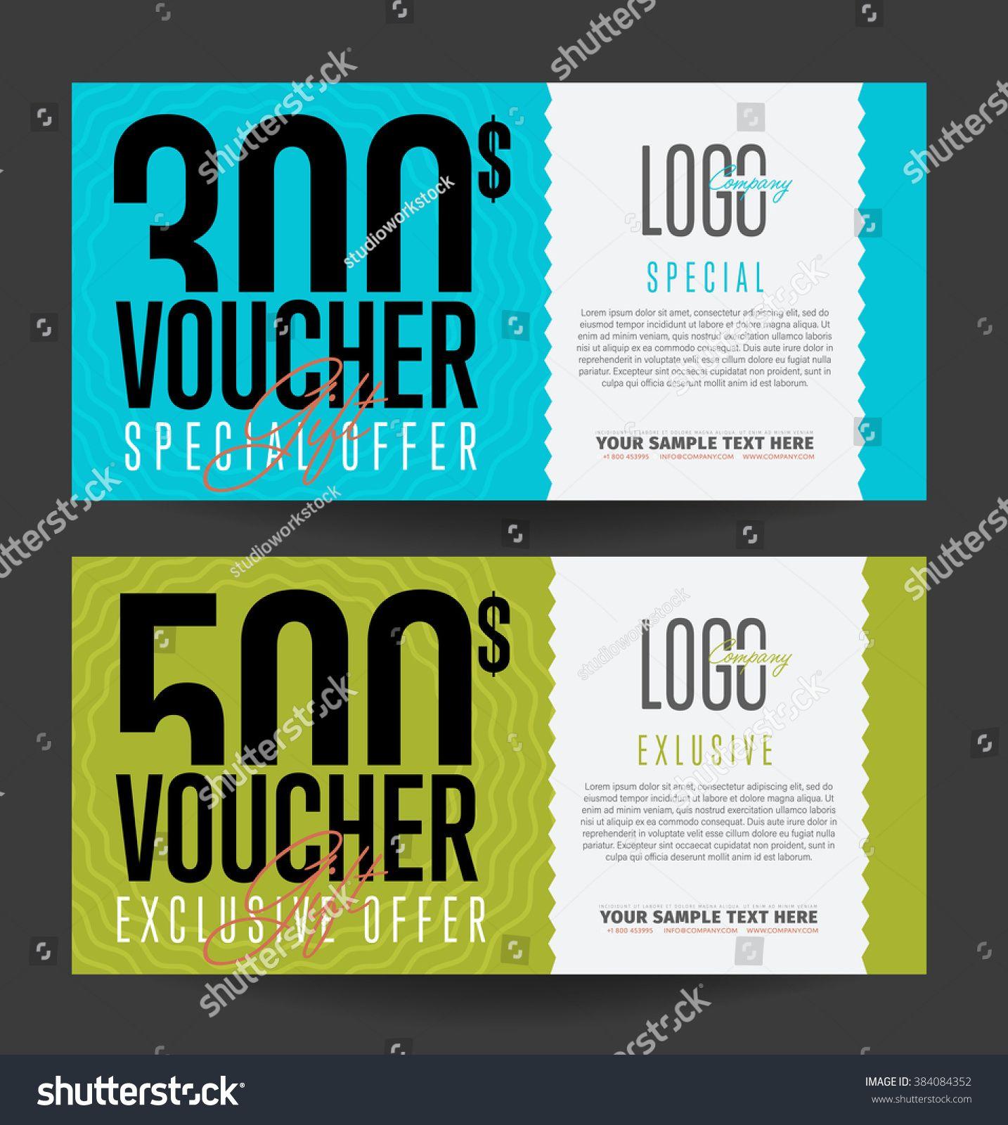 Gift Voucher Template With Market Special Offer Two Side Of Discount Voucher Or Gift Certificate Layout Geschenkgutscheine Gutscheine Geschenke