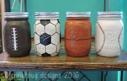 41+ ideas sport party decorations centerpieces mason jars #sport #party
