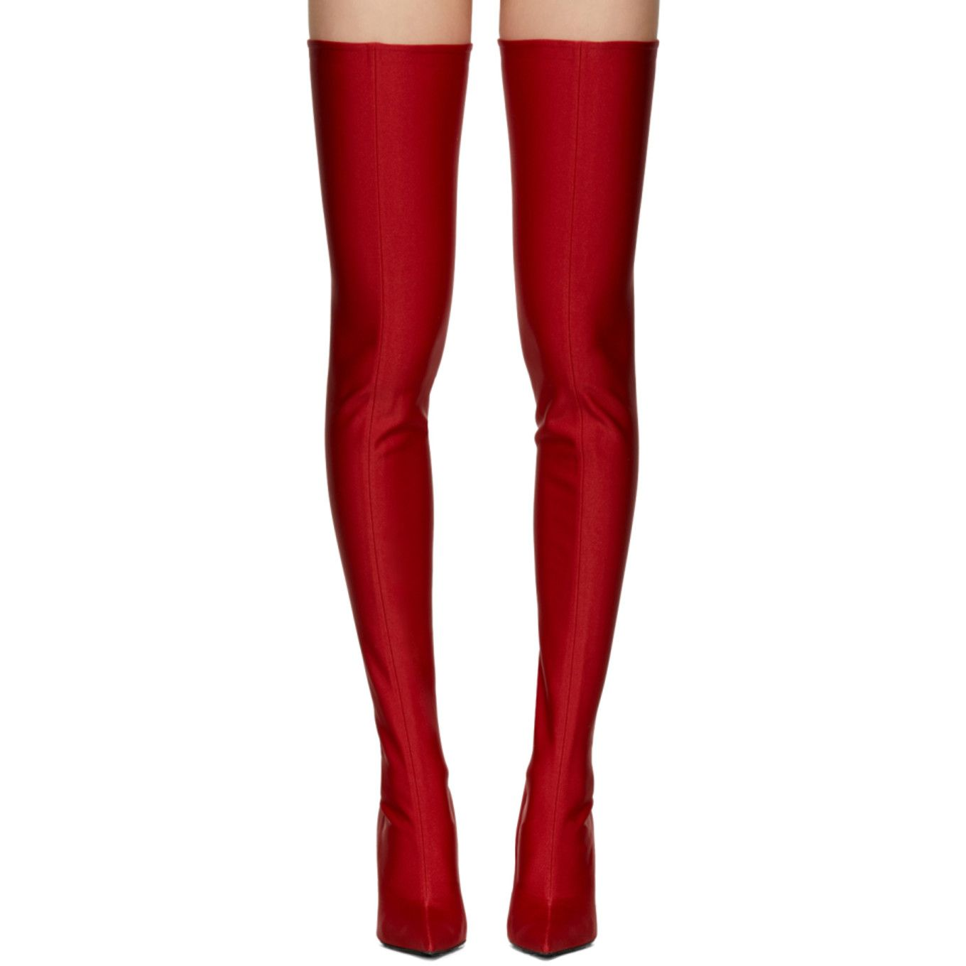 50905b0679b Balenciaga - Red Knife Over-the-Knee Boots