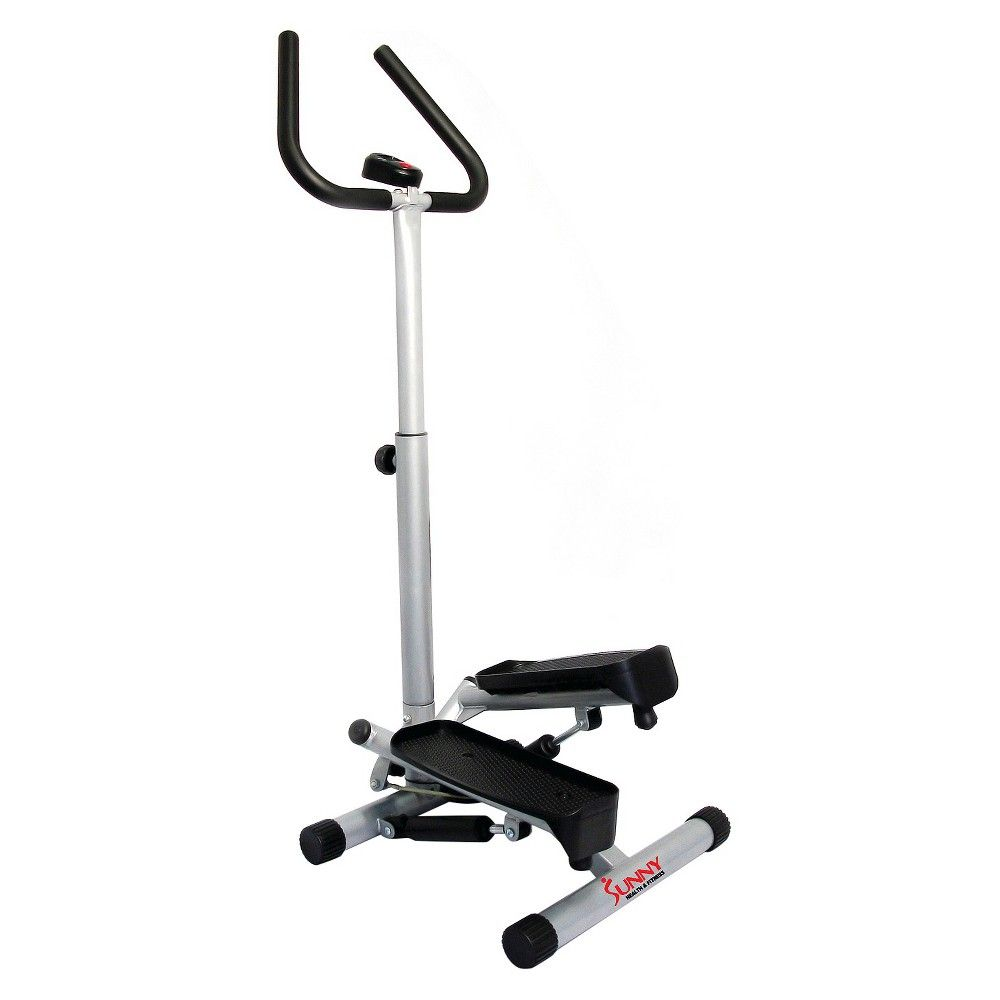 Sunny Health and Fitness (NO. 059) Dual Action Swivel Stepper with Handlbars