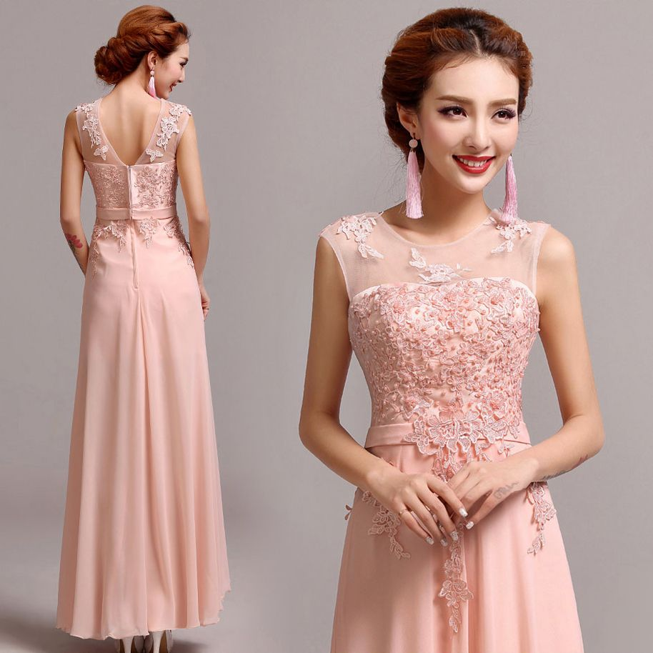 Breathtaking Peach Bridesmaid Dresses Designs : Peach Dress For ...