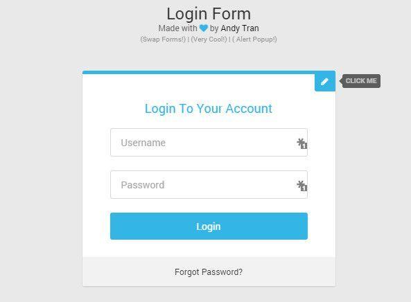 Free CssHtml Login Form Templates HttpDesigneroptimusCom