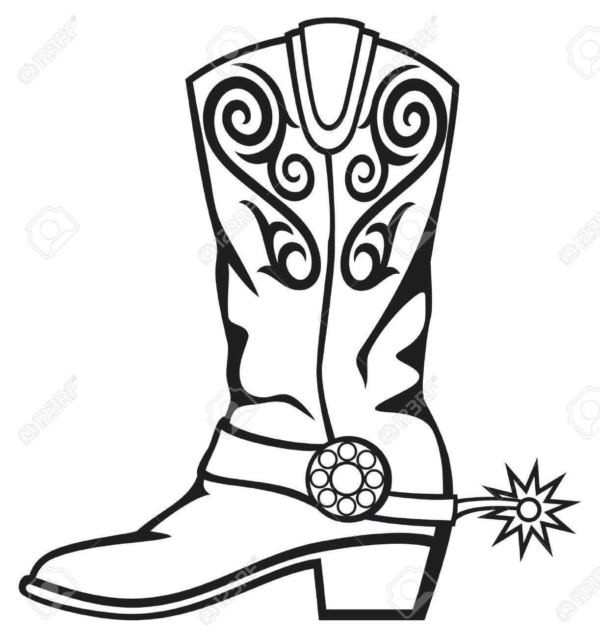 boots clipart western boot 448 [ 1223 x 1300 Pixel ]
