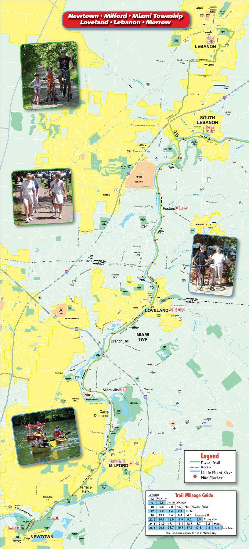 Bike Trails In Ohio Map.Trail Maps Loveland Bike Trail Map Loveland Ohio Bed And