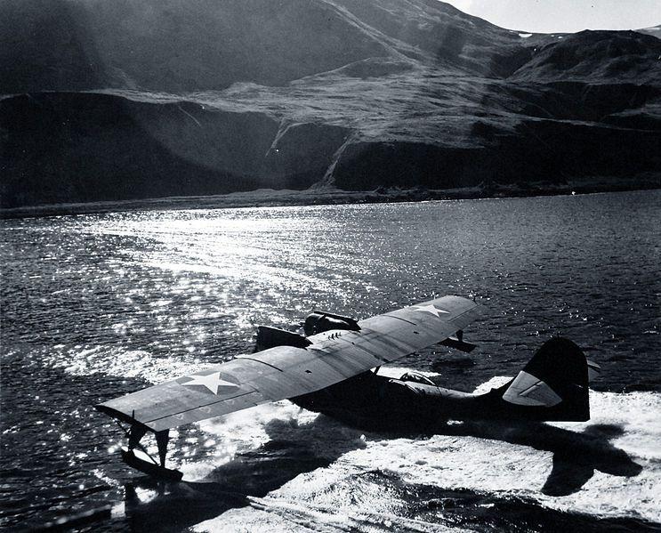 "retrowar ""PBY Catalina returns to Attu "" Flying boat"