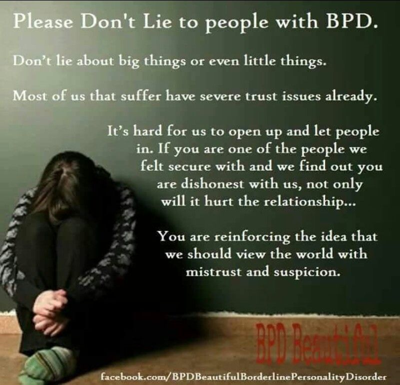 Bpd and trust issues