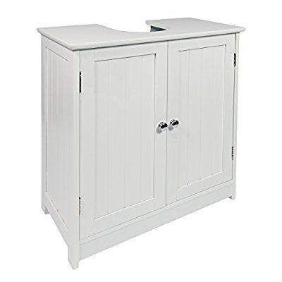 Woodluv Under Sink Bathroom Storage Cabinet White Bathroom Ideas