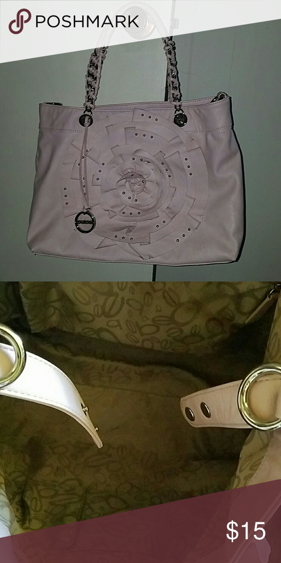 Bebe hand bag Beautiful large pink Bebe handbag. Only small little mark  that will easily 9ea9e9498904b