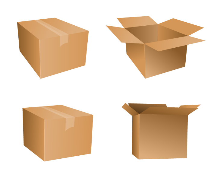 Free Vector Cardboard Box Icons Drupal Style Cardboard Shipping Boxes Cardboard Packing Boxes Box Icon