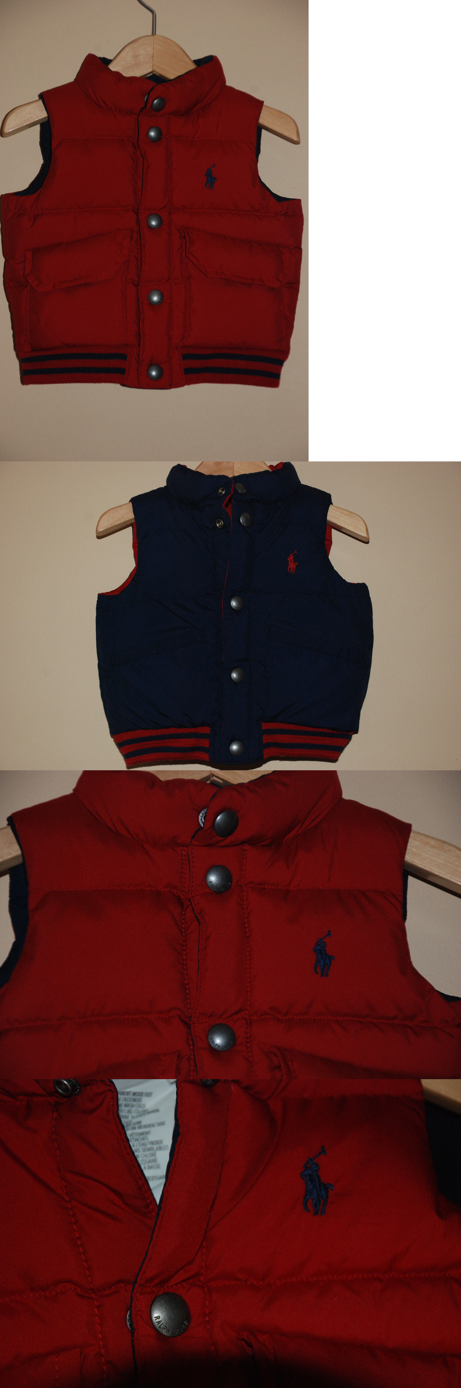 2010aee87915 Outerwear 147324  New Baby Boy S Polo Ralph Lauren Reversible Navy ...