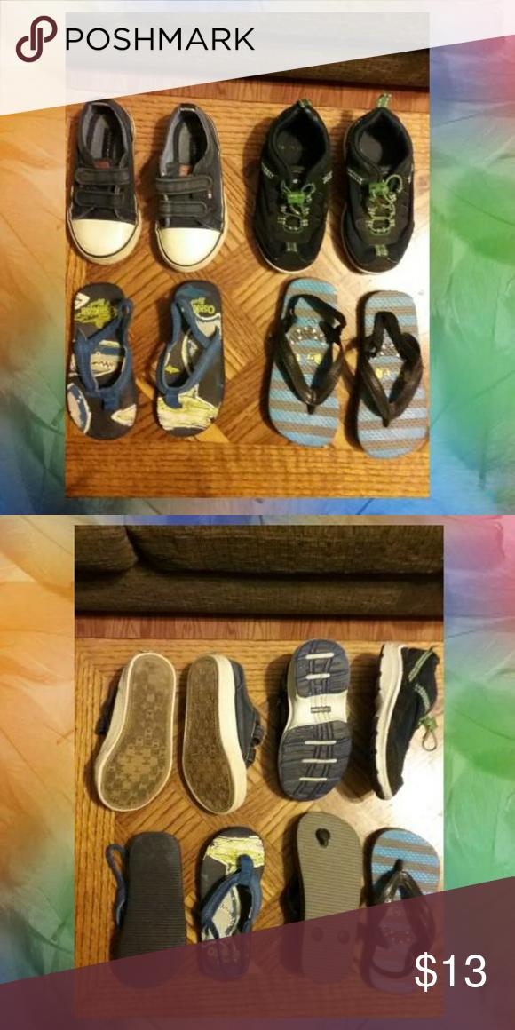 bf4bf937288a82 Bundle of shoes   flip-flops Boys. No.1 Tommy Hilfiger tennis shoes