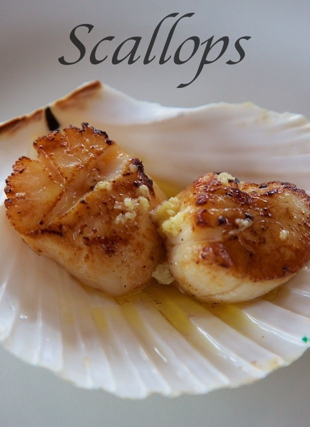 Fresh Scottish scallops with ginger, garlic and lemon butter.