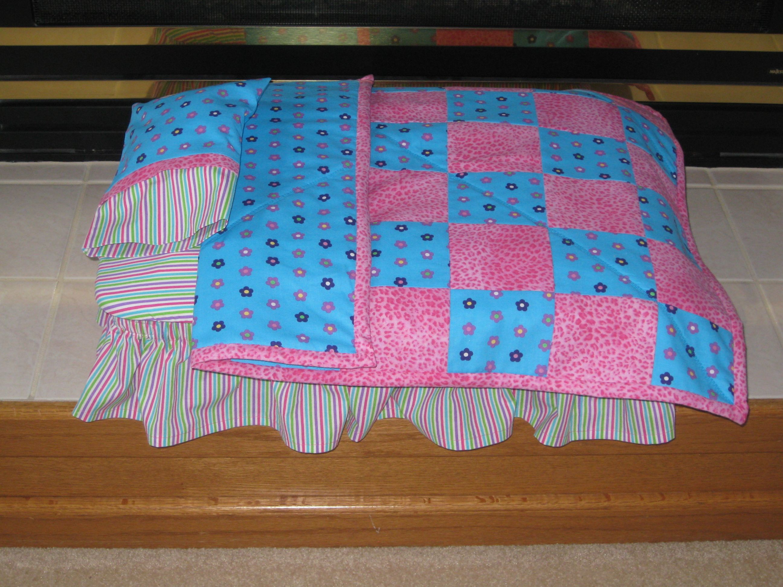 I Made This Doll Bed Using A Plastic Storage Container. The Pattern Is From  LJS
