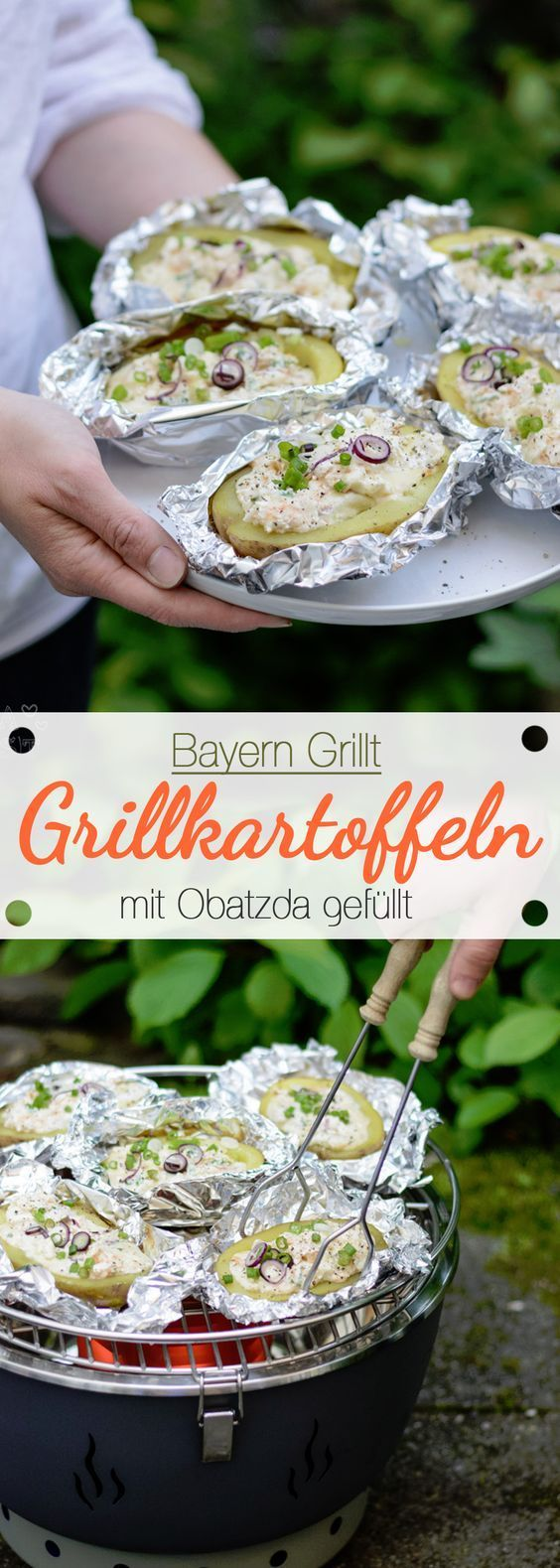 Photo of Bayern grills: grilled potatoes filled with Obatzda – Ina Eats