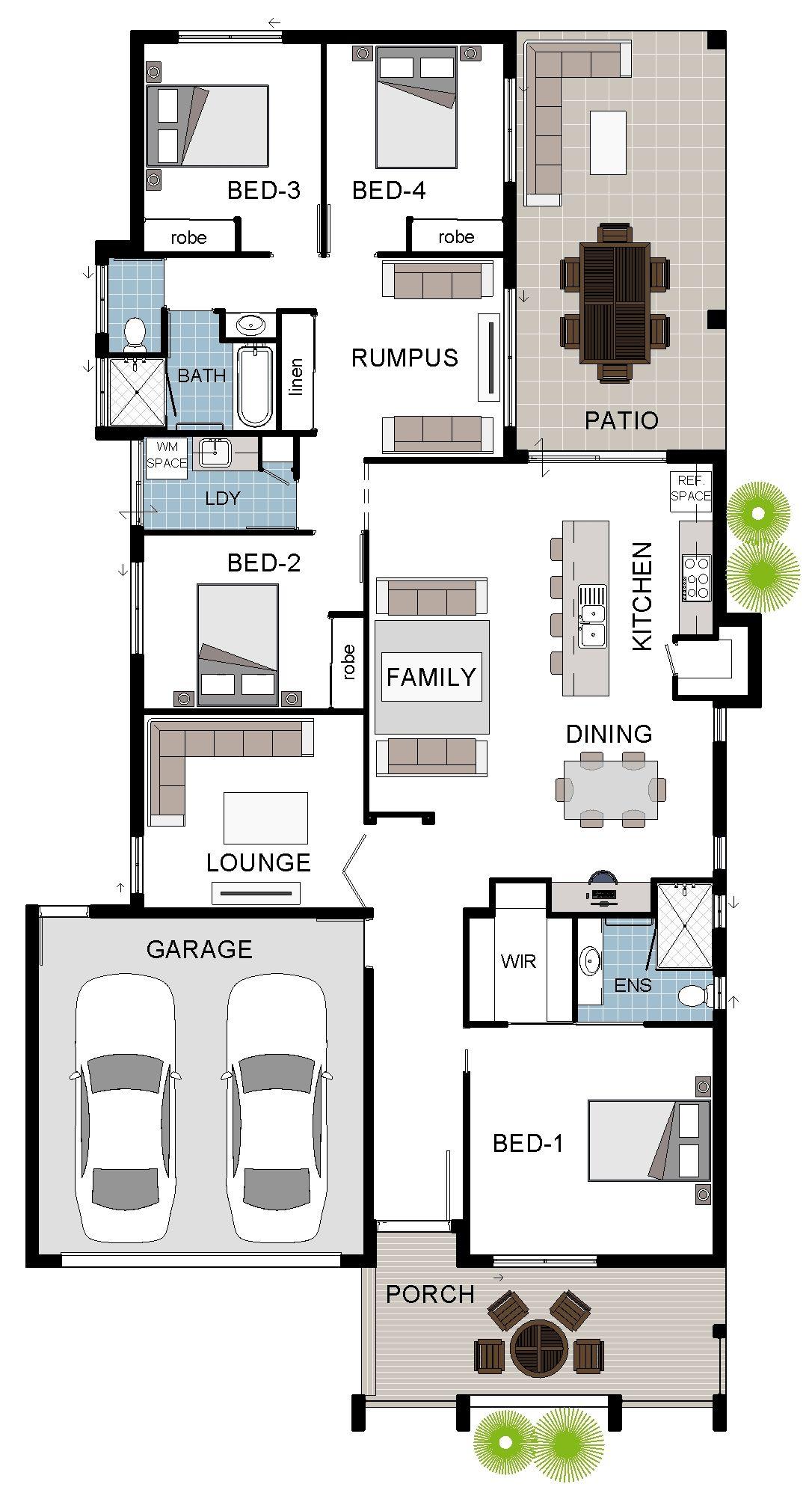 Floorplan design single storey display home design townsville queensland australia