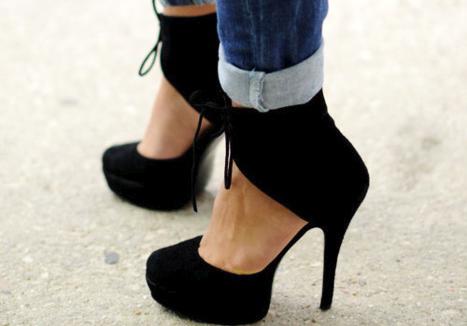 56e6a2bb Asombrosos zapatos de mujer de noche | Modernos zapatos de moda ...