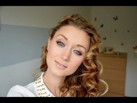 Definierte Locken ohne Hitze - Pin Up Curls ♥ - YouTube