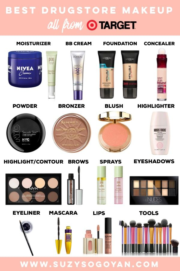 Best Drugstore Makeup Guide All From Target Suzy Sogoyan Www Suzysogoyan Com Best Drugstore Makeup Walmart Makeup Drugstore Makeup