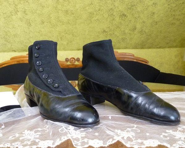 05298497f86 German Men's High Button Shoes, ca. 1900 | 1900's~Edwardian Era ...