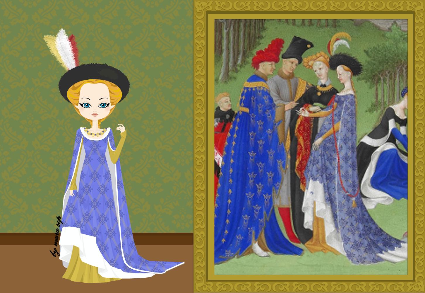 Limbourg Brothers - Très Riches Heures du Duc de Berry (illuminure)  c. 1404