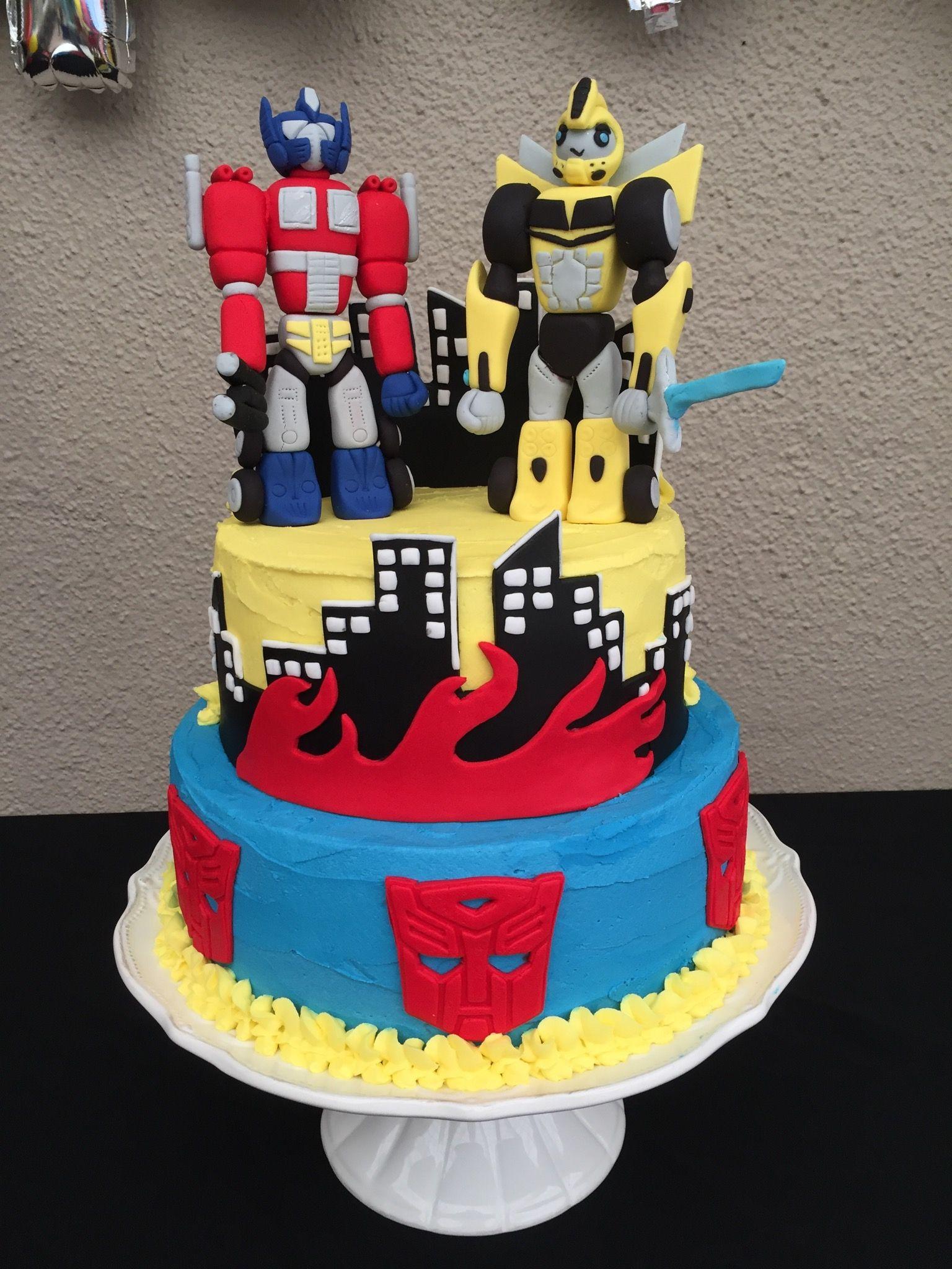 Jason S 6th Transformer Optimus Prime And Bumble Bee Cake