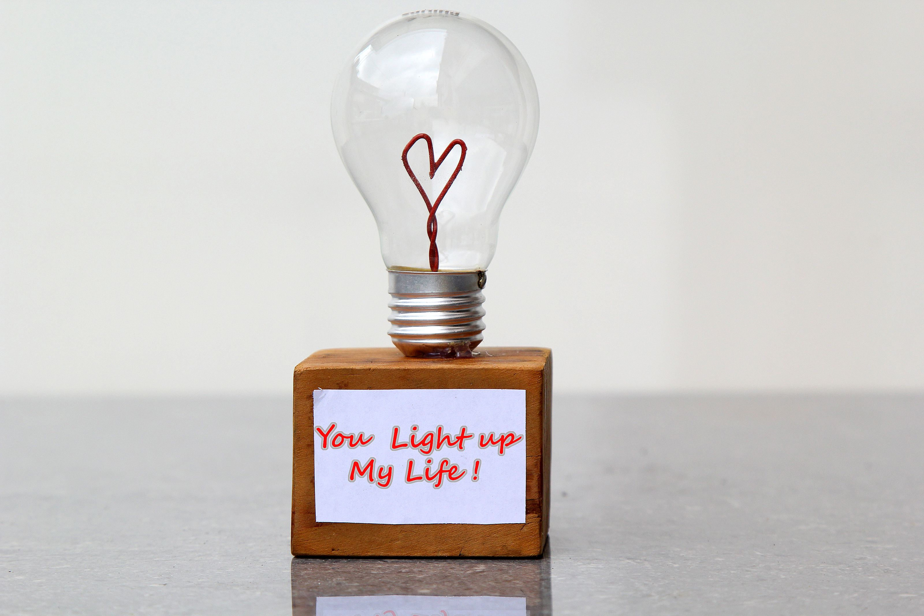 Nice How To Make A Heart Shaped Light Bulb Lamp Awesome Design