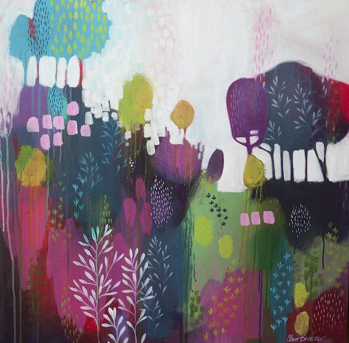 Les peintures abstraites de paysages de clair bremner 13 for Peintures abstraites