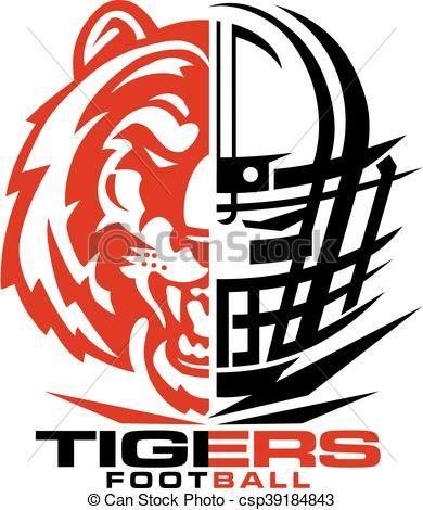 vector tigers football stock illustration royalty free rh pinterest com oakland raiders clip art free