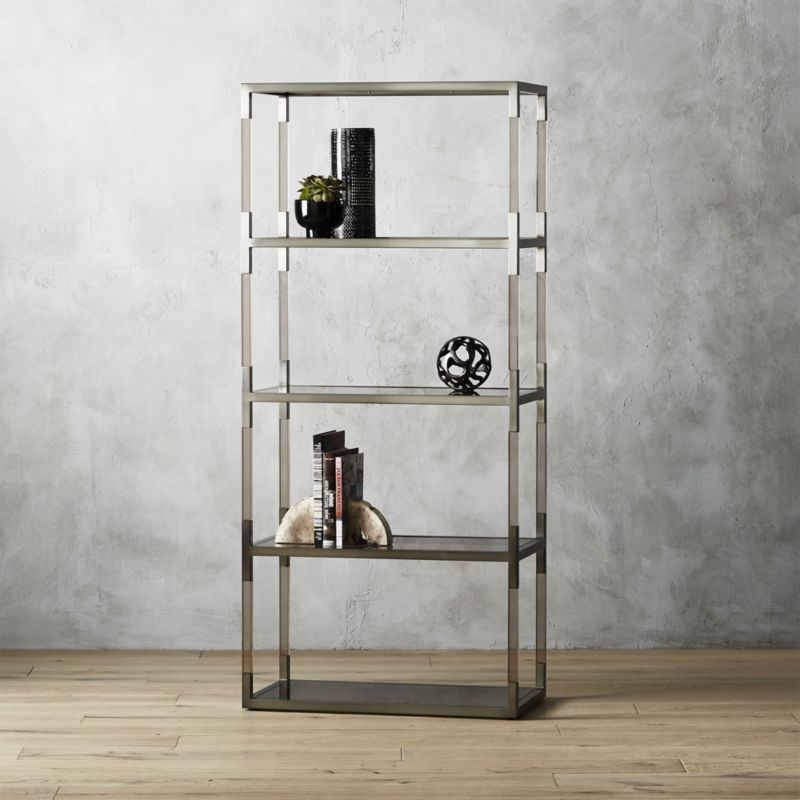Shop Haze Smoke Acrylic Bookcase Iron Acrylic Glass Bookcase
