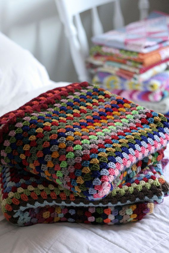 Left over yarn giant granny square blankets | crochet | Pinterest ...