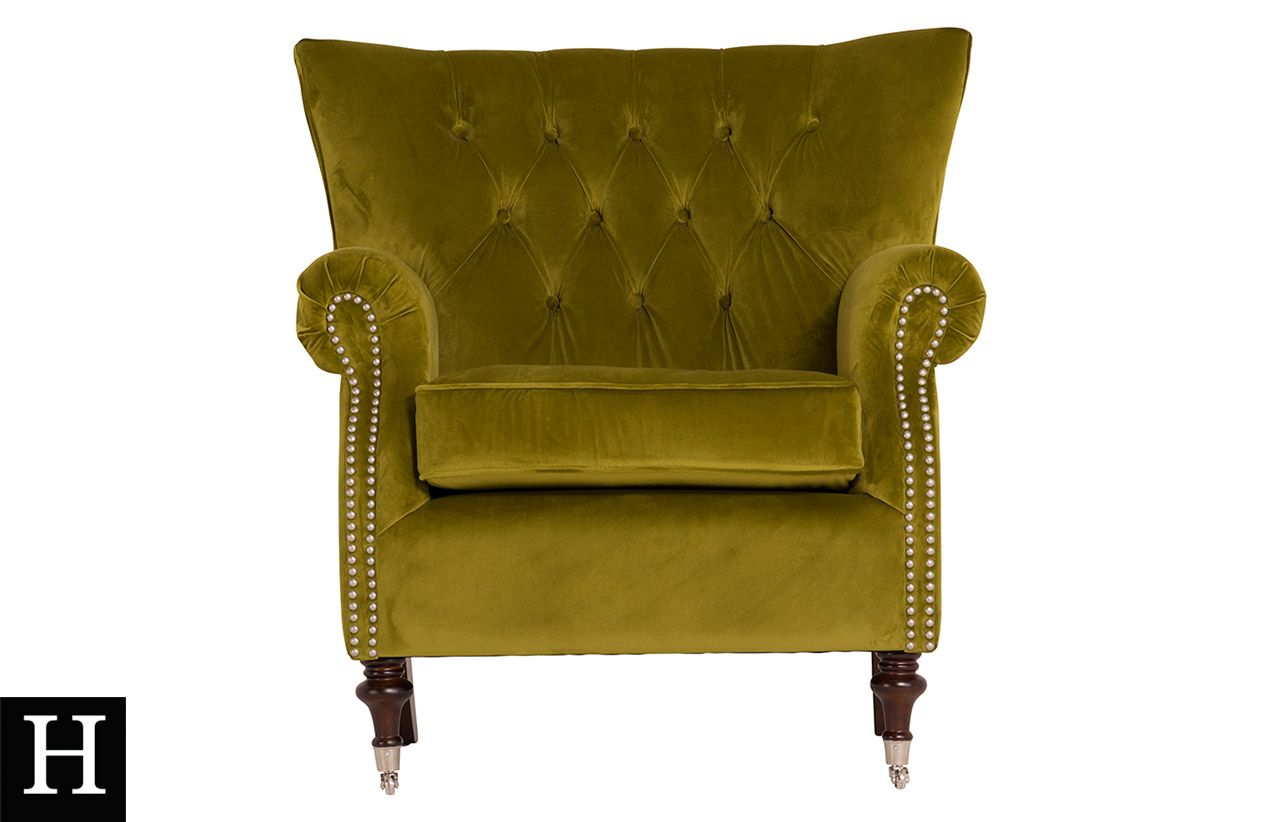 Rigby Accent Chair Velvet Moss Online At Best Prices In Ireland