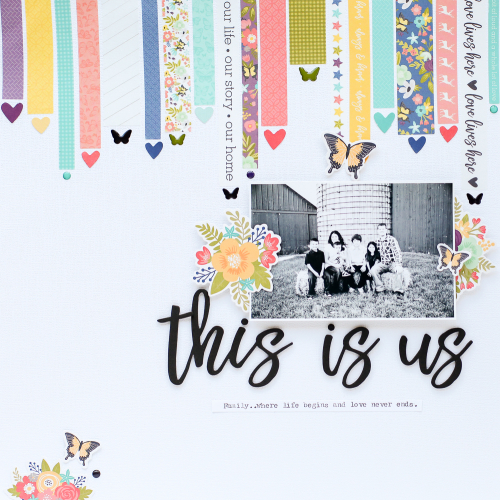 How to Use Washi Tape on a Layout